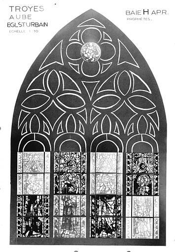 Photomontage de vitrail, baie H : prophètes
