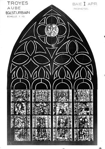 Photomontage de vitrail,  baie I : prophètes