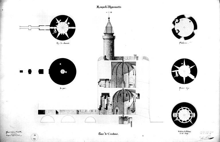 Plan d'architecte et coupes