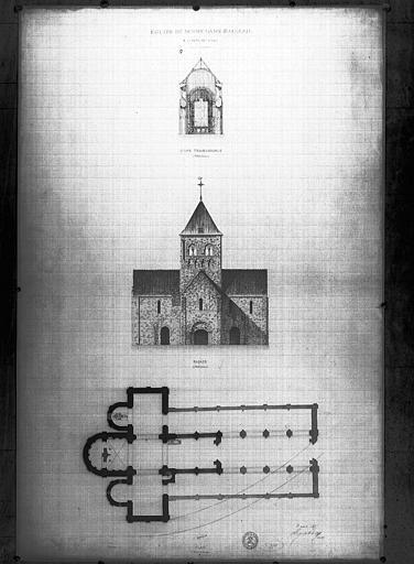 Plan et élévation de la façade
