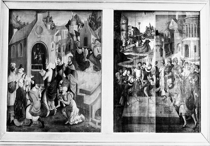 Panneau peint situé dans la chapelle : Légende de la maison de Lorette