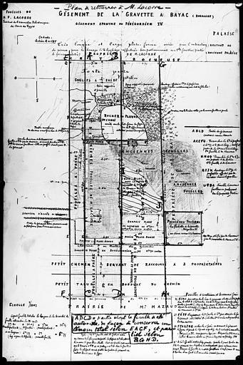 Plan du gisement éponyme du Périgordien IV