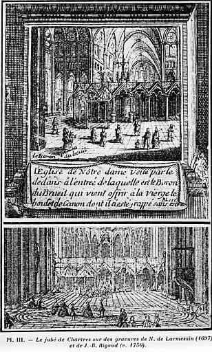 Elévation du jubé de Chartres, reconstitution