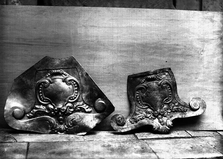 Lutrin, cuivre ciselé : pupitre, en cours de restauration