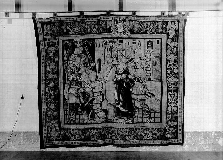 Tapisserie : tenture de l'histoire de sainte Foy