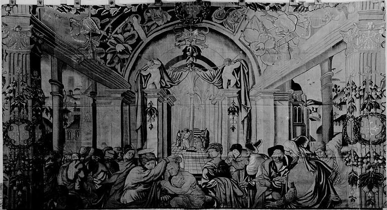 Tapisserie : un Baptême