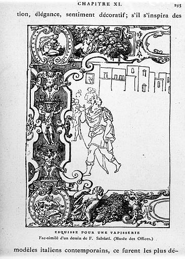 Esquisse pour une tapisserie : fac-similé d'un dessin de F.Salviati