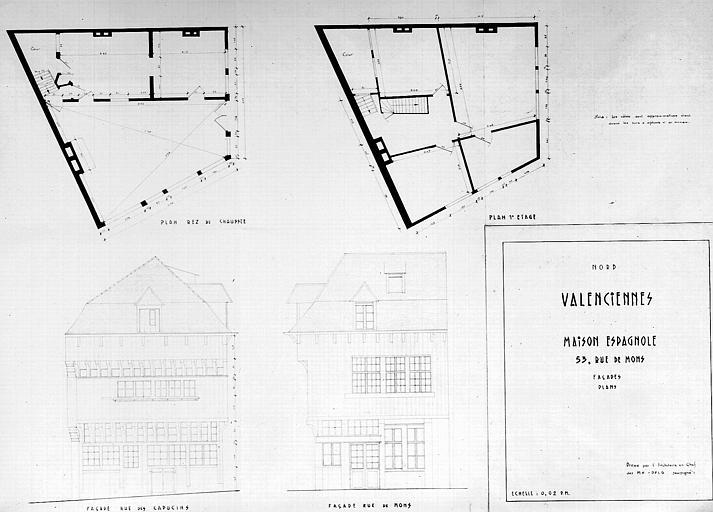 Plan d'architecte et élévation