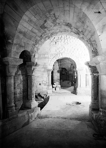 Crypte, chapelle de Hilduin : restitution des passages à l'ouest de la chapelle, vers le sud