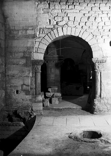 Crypte, chapelle de Hilduin : restitution des passages au sud de la chapelle, vers le sud