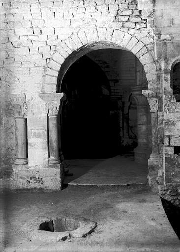 Crypte, chapelle de Hilduin : restitution des passages de la chapelle, vers le sud