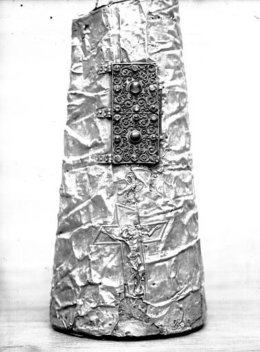 Bras reliquaire de saint Vincent : dos du bras, état avant restauration