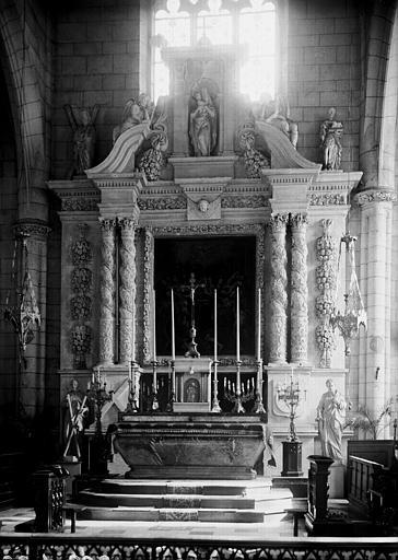 Retable du maître-autel, pierre ou marbre