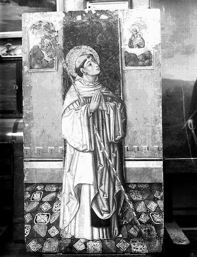 Panneau peint : saint Bernard, état avant restautation