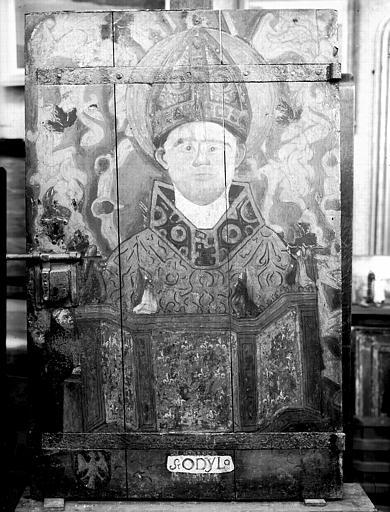 Panneau peint de saint Odylo, état après restauration