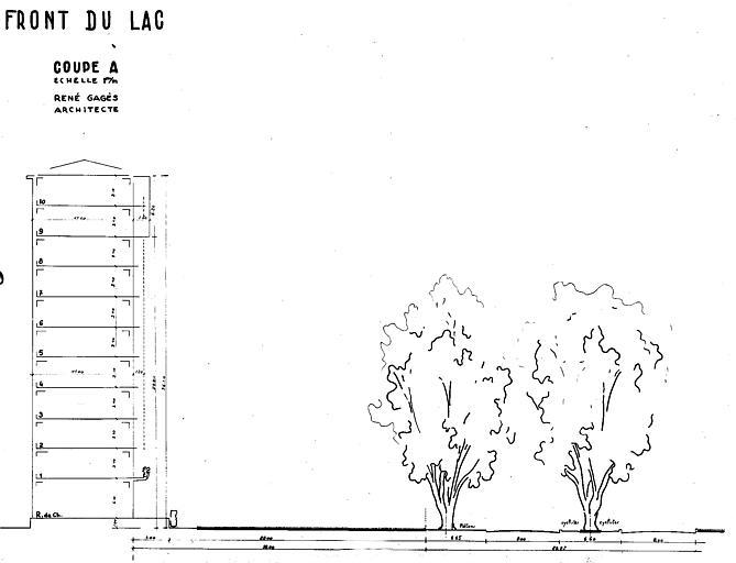 Résidence du Front du Lac : coupe A
