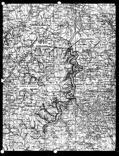 Carte de l'équipement hydraulique, canal du Forez, usine de Grandjean