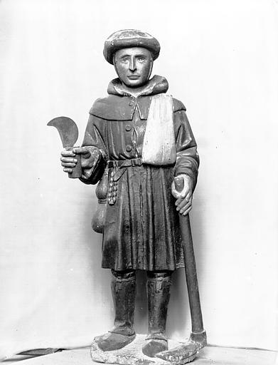 Statue en bois : saint Valéry