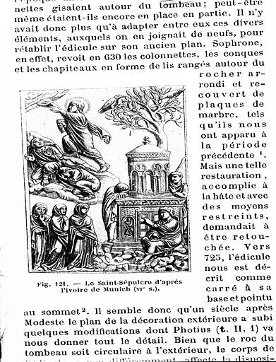 Le Saint-Sépulcre, fac-similé d'après l'ivoire de Munich (VIe s)