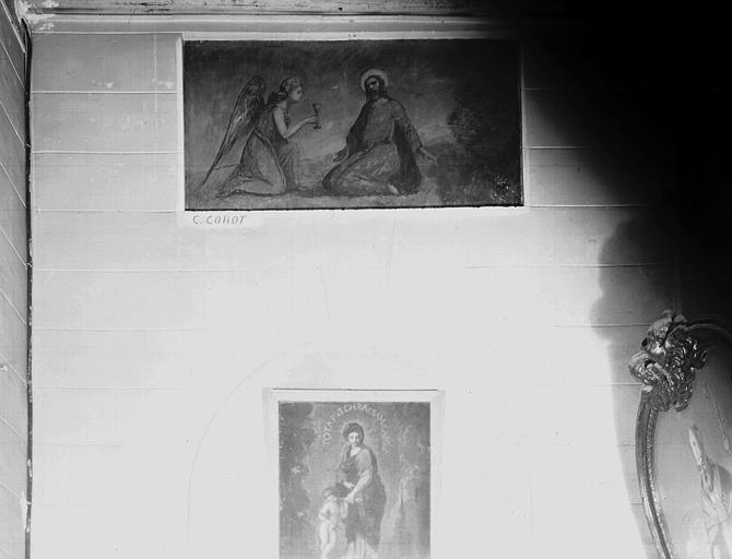 Peinture sur toile marouflée : Christ au Jardin des Oliviers