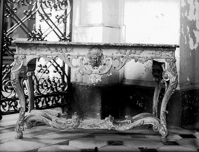 Console en bois doré d'époque Louis XV
