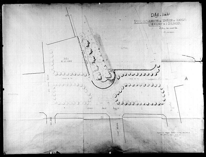 Projet de démolition de l'escalier des remparts et aménagement de deux esplanades