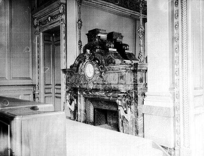 Salle des séances de l'ancien Conseil économique : la cheminée