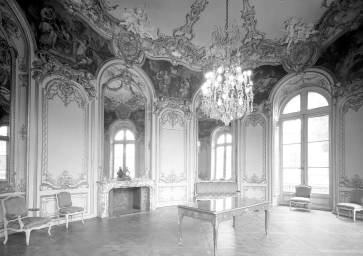 Premier étage, salon Circulaire du Pavillon de Boffrand dit Rotonde de Psyché