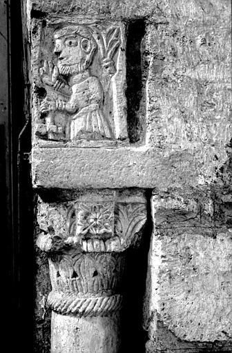 Chapelle saint Michel au-dessus du narthex : piédroit côté de l'arcade de Falannus