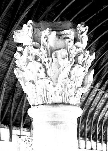 Chapiteau du choeur : feuillages du chapiteau de l'Agriculteur