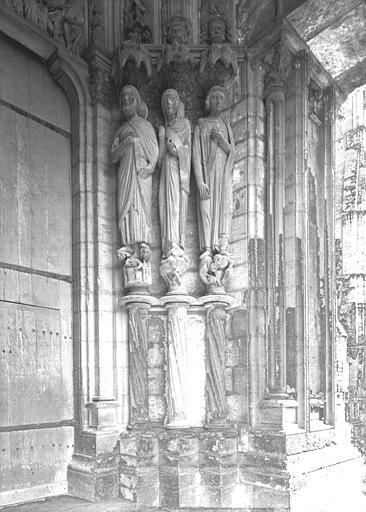 Portail du croisillon nord, porte côté ouest, ébrasement droit : Jésus de Sirach, Judith, Joseph