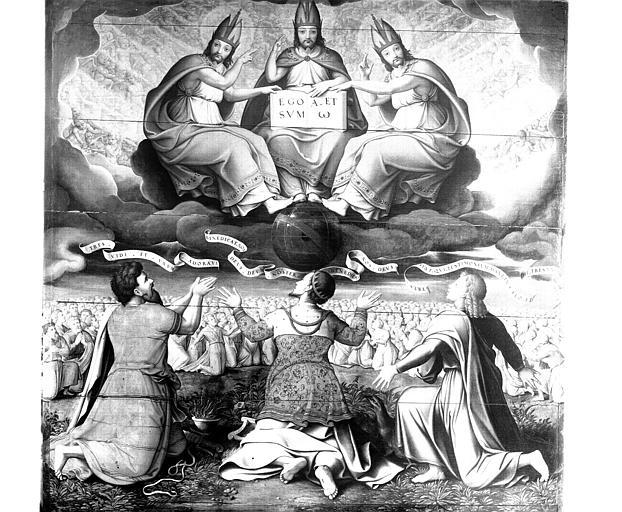 Panneau peint : la Trinité