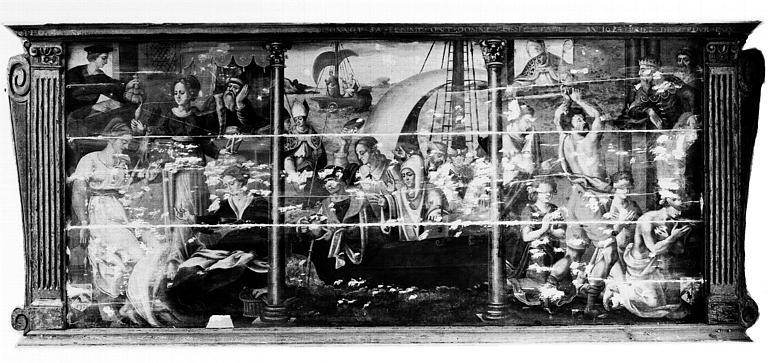 Retable en bois peint : Légende de saint Nicolas