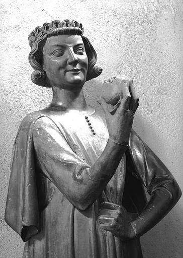 Statue en pierre, provenant du portail sud de la façade de la cathédrale : Tentateur