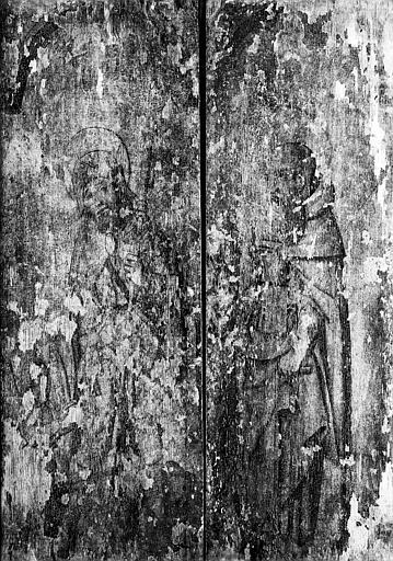 Panneau peint au revers : saint Roch et saint Antoine