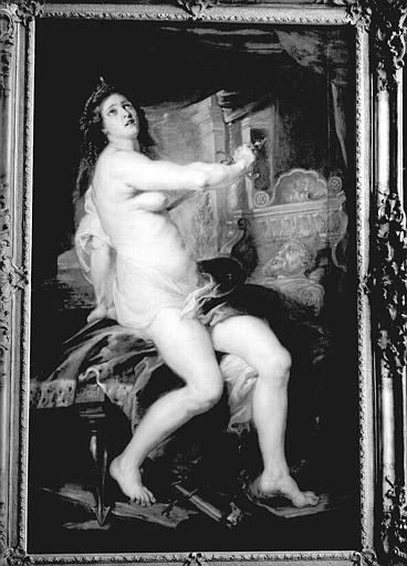 Peinture sur toile : la Mort de Didon