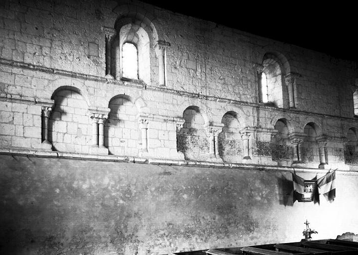 Nef : arcature du mur nord