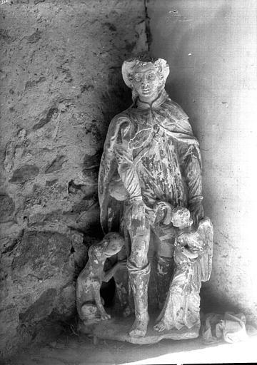 Statue en pierre : saint Roch