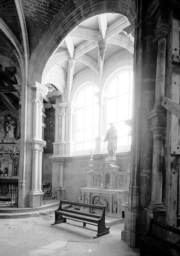 Intérieur de l'abside : chapelle rayonnante, état après restauration