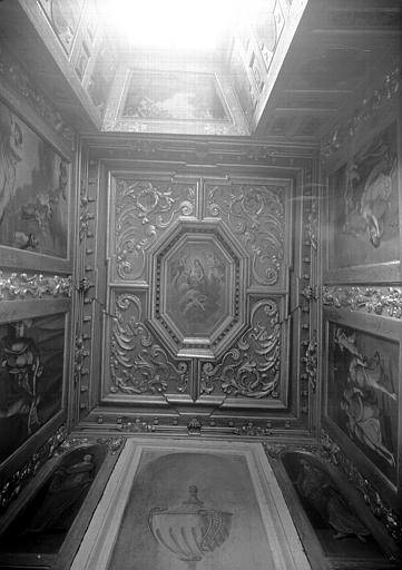 Pavillon sud-est, deuxième étage : plafond de l'oratoire