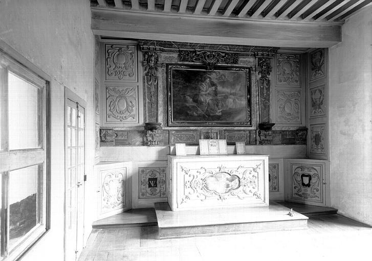 Premier étage, aile ouest : chapelle