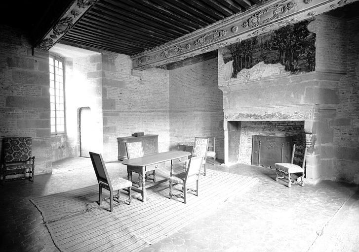 Premier étage, aile nord : antichambre d'honneur dite chambre du bout de la salle