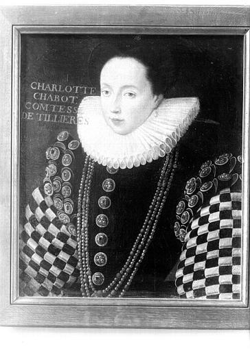Premier étage, aile est, Salle à manger : portrait de Charlotte Chabot Comtesse de Tillières, buste