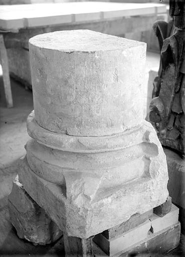 Base et tambour de colonne
