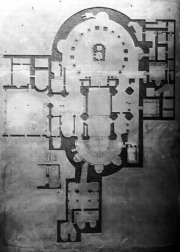 Plan du Sépulcre de Jérusalem : maquette exécutée en 1953