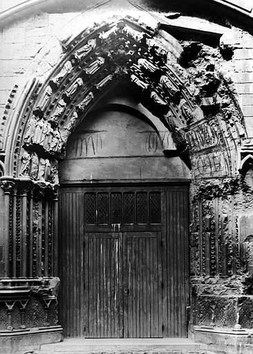 Portail du croisillon sud, état avant restauration