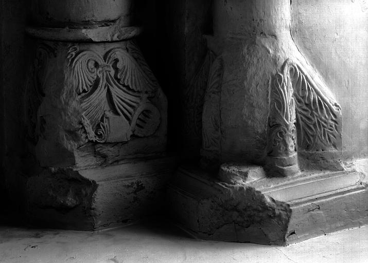 Chapiteaux de la chapelle du collatéral nord du choeur, colonne côté nord