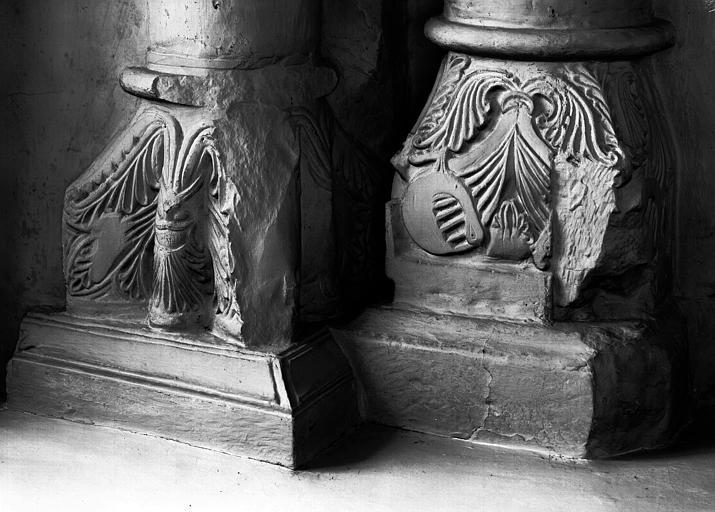 Chapiteaux de la chapelle du collatéral nord du choeur, colonne côté sud