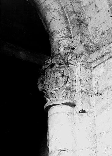 Chapiteau de la pile sud-ouest de la croisée, face sud
