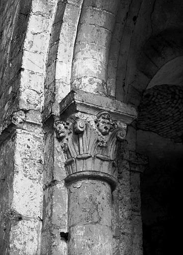 Chapiteau de la nef côté sud, deuxième pile, face ouest
